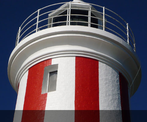 Striking colours of the Devonport Lighthouse