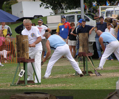 Woodchopping at the Devonport Regatta Festival - Held February/March