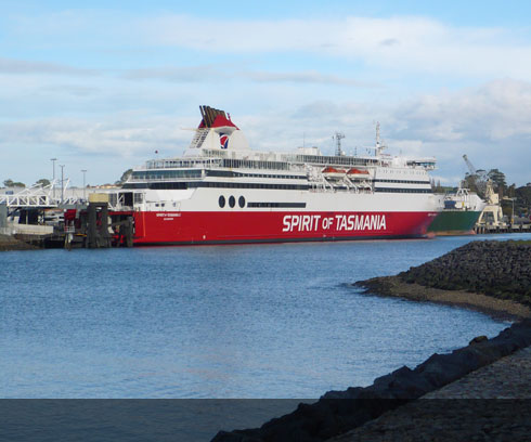 The majestic Spirit of Tasmania ferry in dock at Devonport