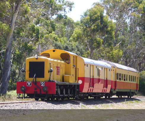 Ride the nostalgic Don River Railway at Devonport