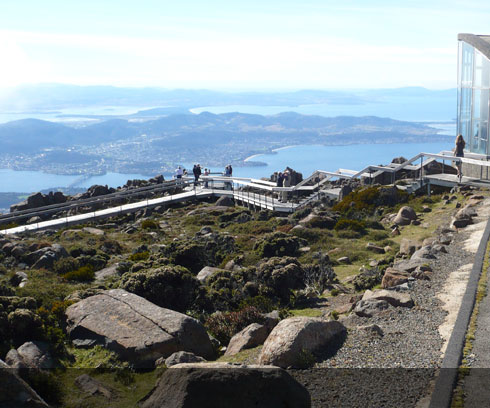 Excellent tourist facilities on Mt Wellington, Hobart