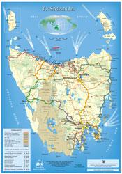Tasmania Holiday Touring Map
